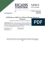 ATR Releases 2010 List for Delaware