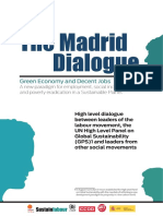 The Madrid Dialogue Green Economy and Decent Jobs