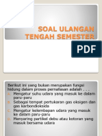 Soal Ulangan Tengah Semester Kelas 8