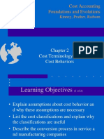 Ch02 Cost Terminology and Cost Behaviors