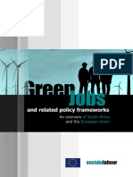 Green Jobs and related policy frameworks. An overview of the European Union and South Africa. (Sustainlabour, 2013)
