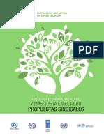 Hacia una economía más verde y más justa en el Perú. Propuestas sindicales. (2016)