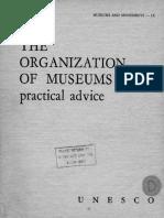 La organizacion de los museos