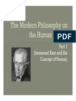 (J) Modern Philosophy on the Human Person (Kant)(1)