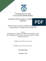 Desarrollo de Un Producto Alimenticio Elaborado a Base de Zanahoria (Daucus Carota), Avena (Avena
