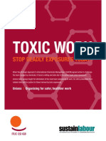 Toxic work. Stop deadly exposures today  (Sustainlabour, 2015)