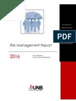 2016 Risk Management Report