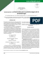 Estándares internacionales para la práctica segura de la anestesiología