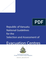 Evacuation Centres Guidelines