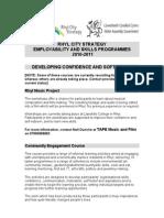 Info on Programmes 2010-2011
