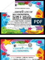 Certificate Little Mr and Miss Nutrition