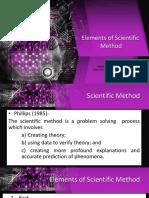Elements of Scientific Method