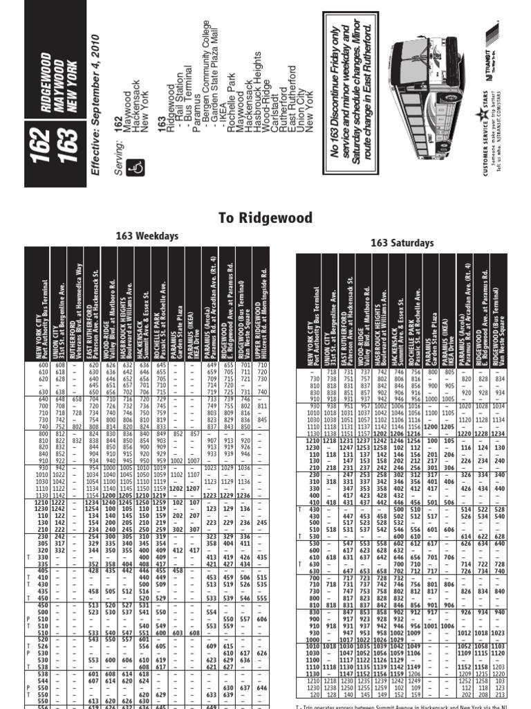 Nj Transit 163 Bus Schedule Epub Download
