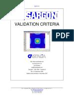 Validation Criteria for Sargon