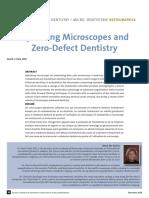 Operating Microscopes and Zero-Defect Dentistry