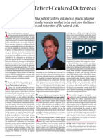 Patient Centered Outcomes in Cosmetic Dentistry