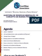 6 - Auditoria de Reservas Minerales - JP. Gonzalez - GeoMine