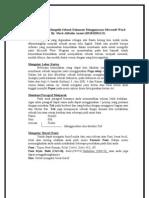 Tehnik dasar Mengetik sebuah dokumen Menggunaaan Microsoft Word
