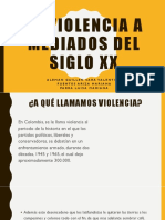La Violencia a Mediados Del Siglo Xx