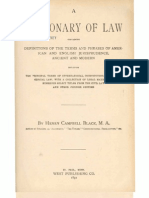 Black's Law 1st Edition - Sec. A