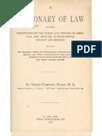 Black's Law 1st Edition - Sec. A