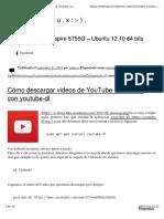 Cómo descargar videos de YouTube en Ubuntu con youtube‑dl
