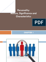 Chapter 1- Personality Definition and Its Components With Assignment