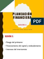 Planeación Financiera Sesion 2