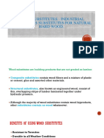 Wood Substitutes - Industrial Products as Substitutes For