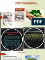 Grupo 6- Sostenibilidad Ecologica Como Justicia Intergeneracional