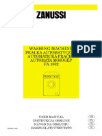 Zanussi FA1032 Manual