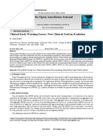 Clinical Early Warning Scores New Clinical Tools i