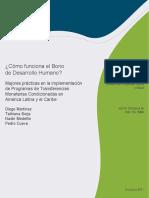 Cómo Funciona El Bono de Desarrollo Humano Mejores Prácticas en La Implementación de Programas de Transferencias Monetarias Condicionadas en América Latina y El Caribe