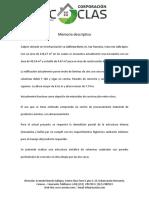 1.- Memoria Descriptiva Galón Para Procesamiento Avícola
