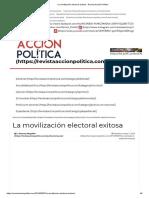 La Movilización Electoral Exitosa - Revista Acción Política