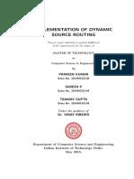 Implement DSR report C++