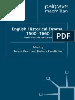 Teresa Grant, Barbara Ravelhofer -  English Historical Drama 1500-1660