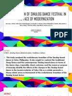 Case Study on sinulog dance