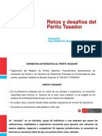 Retos y Desafíos Del Perito Tasador en El Perú
