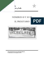 EL PROLETARIADO 43 Y 45