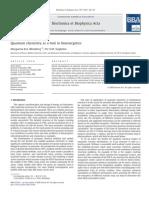 Quantum Chemistry as a Tool in Bioenergetics 2010 Bio Chi Mica Et Bio Physic A Acta (BBA) Bioenergetics
