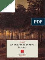 Amiel - En Torno Al Diario Íntimo