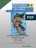 Plan de Gobierno de Richard Hancco Soncco