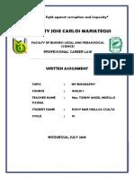 Written Assignment - My Biography