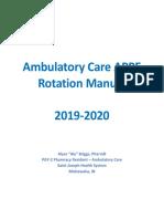ambulatory care appe rotation manual