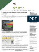 ClyphX Pro Per Ableton Live