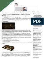 I Suoni Iconici Di Vangelis – Blade Runner Brass
