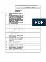 Safety and Health Checklist for Monitoring Transmission Line Construction Works