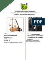 Monografia de Derecho Agrario