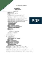 Catalogo de Cuentas 2018